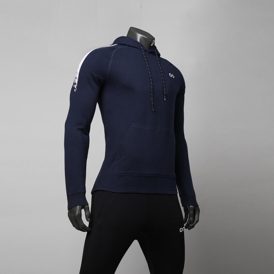 龍脈系列連帽衛衣藏藍色細節
