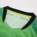 飛魚系列守門員比賽服綠色短袖衣領細節