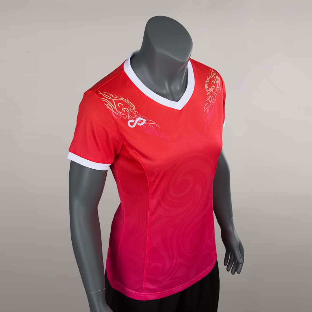 狂野出发之赤焰圣凰比赛服左侧面细节