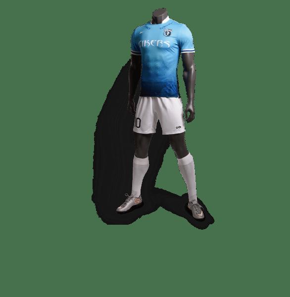 神兽系列青龙蓝色款足球比赛服