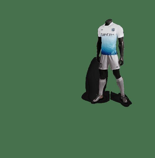 神兽系列青龙白色款足球比赛服