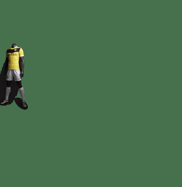 神兽系列玄武黄色款足球比赛服