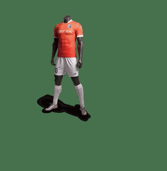 神兽系列朱雀橙色款足球比赛服