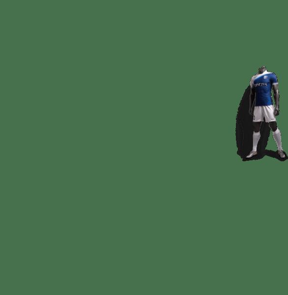 神兽系列白虎蓝色款足球比赛服