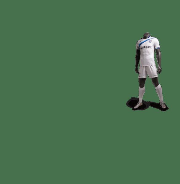 神兽系列白虎白色款足球比赛服