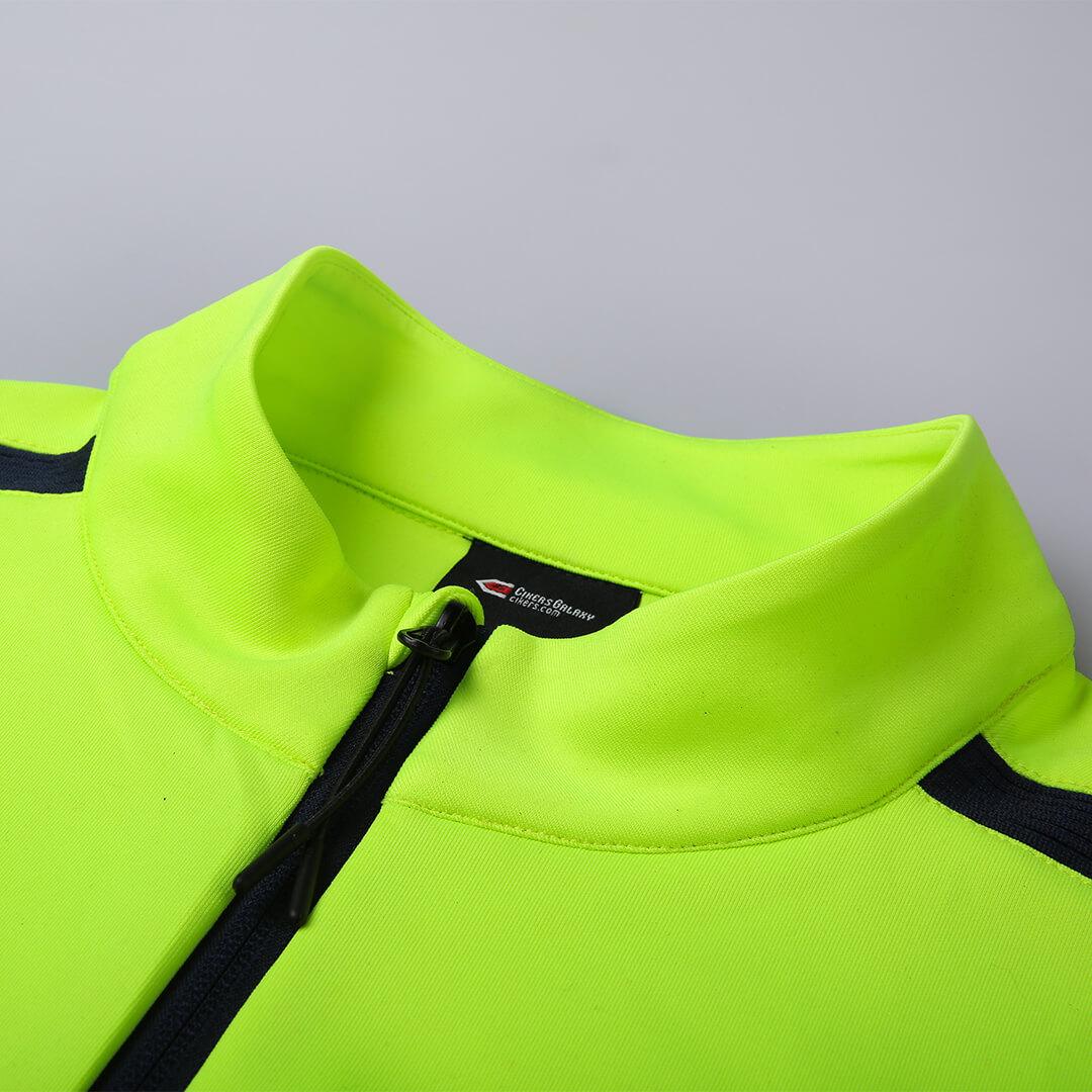 T 系列運動夾克熒光綠細節圖