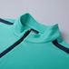 T 系列運動夾克薄荷綠衣領細節