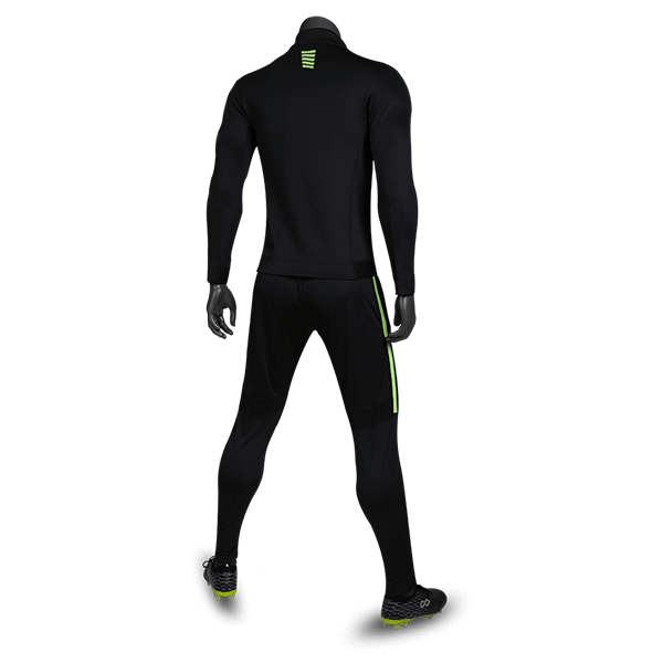 T 系列運動夾克黑色背側面