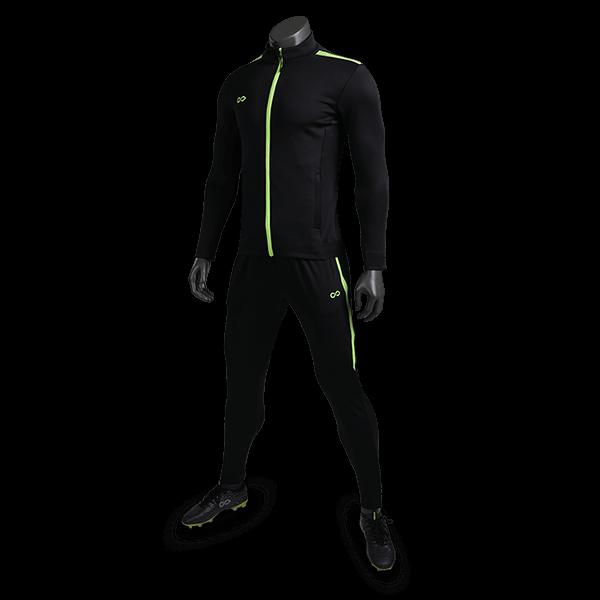 T 系列運動夾克黑色正側面