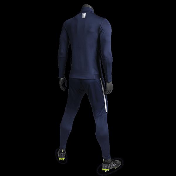 T 系列運動夾克藏藍背側面