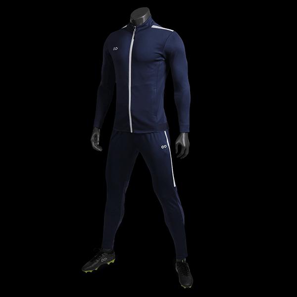 T 系列運動夾克藏藍正側面