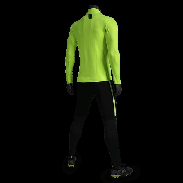 T 系列運動夾克熒光綠背側面