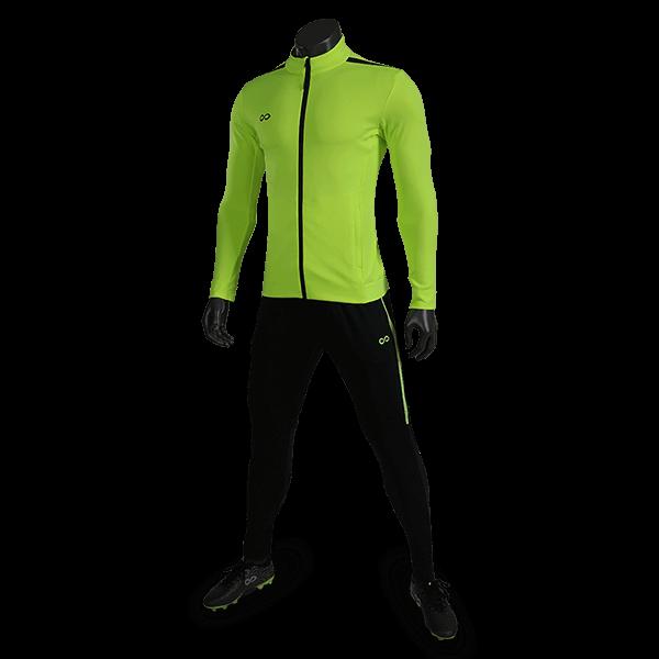 T 系列運動夾克熒光綠正側面