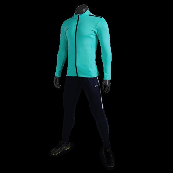 T 系列運動夾克薄荷綠正側面